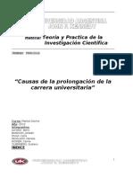 TP de Investigacion Cientifica - Causas de Prolongacion de La Carrera Universitaria