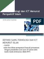 Sains,Teknologi Dan ICT Menurut Perspektif Islam