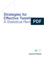 Strategies for Effective Tweeting- A Statistical Review