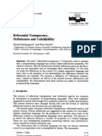 Sondergaard, Sestoft - Referential Transparency, Definiteness and Unfoldability