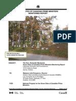 Alexander Mackenzie Grave Site Monitoring Report 2011