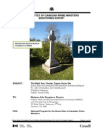 Charles Tupper Grave Site Monitoring Report 2011