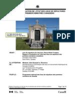 Pierre Elliott Trudeau Grave Site Monitoring Report 2011
