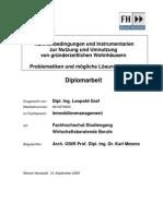 Master Thesis Graf L. - Rahmenbedingungen und Instrumentarien zur Nutzung und Umnutzung von gründerzeitlichen Wohnhäusern Problematiken und mögliche Lösungsansätze