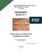 Memoria Módulo V