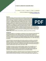 Influencia del biodiésel sobre la calidad del combustible diésel