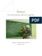 La Actual Reforma Educativa Argentina