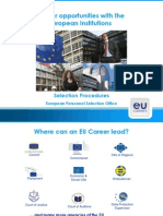 EU career opportunities and selection procedures by Rita Hinek (EPSO)