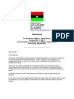 Recommittal to Declaration of Biafra May 30 2007