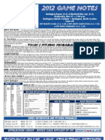 Bluefield Blue Jays Game Notes 6-27
