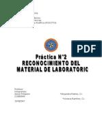 Reconocimiento Del Material de Laboratorio- Practica 2