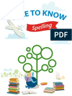 Time to Know English Book - Spelling