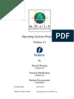 Operating Systems - Fedora 12 - Hirosh Tharaka