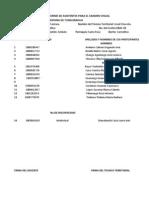 Informe de Asistentes Para El Examen Visual