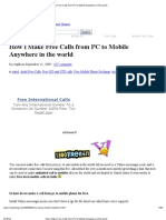 How I Make Free Calls From PC to Mobile Anywhere in the World