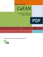 CaFAN Strategic Plan 2009-2011