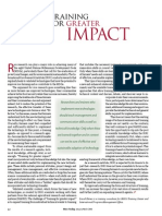 RT Vol. 5, No. 1 Training for greater impact