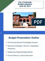 Alameda Budget June 26 2012 2013
