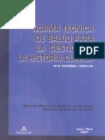 Norma Tecnica 022 MINSA