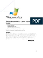 Network and Sharing Center Operations Guide