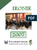 Gesangsverein Taufkirchen Chronik 2007