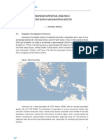 INDONESIA CONTEXTUAL ANALYSIS in WATER SUPPLY AND SANITATION SECTOR