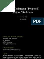 Kertas Cadangan (Proposal) Kajian Tindakan 2003