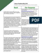 May 2012 Frankston Library Customer Feedback