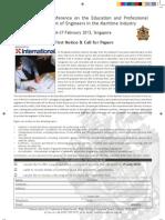 Education CFP2013