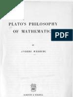 Plato's Philosophy of Mathematics - Anders Wedberg