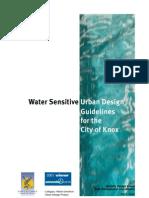 Water Sensitive Urban Guidelines