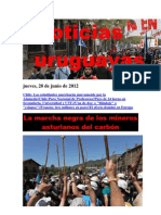 Noticias Uruguayas Jueves 28 de Junio Del 2012