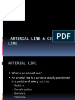 Arterial Line and Central Line