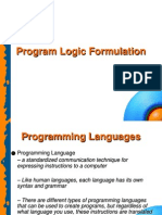 Program Logic Formulation