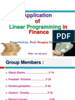 Application Oflpp in Finance Ppt Final - Copy
