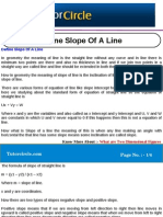 Define Slope of a Line