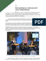 Presidenta Bachelet participó en conferencia del paleontólogo francés, Michel Brunet