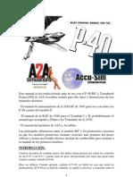 Manual P-40B-C Para Uso en FSX