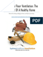 How Proper Sub Floor Ventilation Can Safeguard Your Health