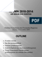 Rencana Pembangunan Jangka Menengah Nasional (RPJMN) 2010-2014 Air Minum dan Sanitasi