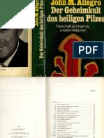 Allegro Der Ursprung Der Religionen - Geheimkult Des Heiligen Pilzes