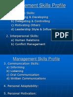 Management Skills Profile