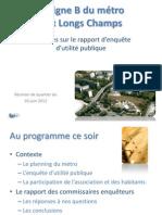 Présentation succinte du rapport EUP