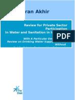 Tinjauan Partisipasi Swasta dalam Penyediaan Air dan Sanitasi di Indonesia.