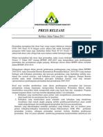 PRESS RELEASE Refleksi Akhir Tahun 2011 Kementerian Perumahan Rakyat