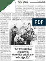 DOA Galicia, Entrevista FARO de VIGO Por Lourdes Varela 28.6.12