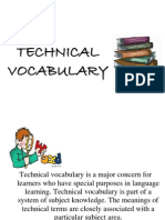 General Vocabulary