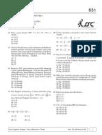 Soal to UASBN Matematika Kelas 6 SD Kode 631