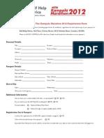 Kampala Running Challenges Application Form
