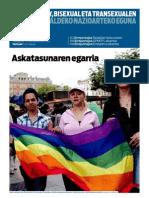BERRIA-LESBIANA,GAY,BISEXUAL ETA TRANSEXUALEN ESKUBIDEEN ALDEKO NAZIOARTEKO EGUNA 2012